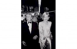Mike Nichols and Diane Sawyer by Michel Haddi